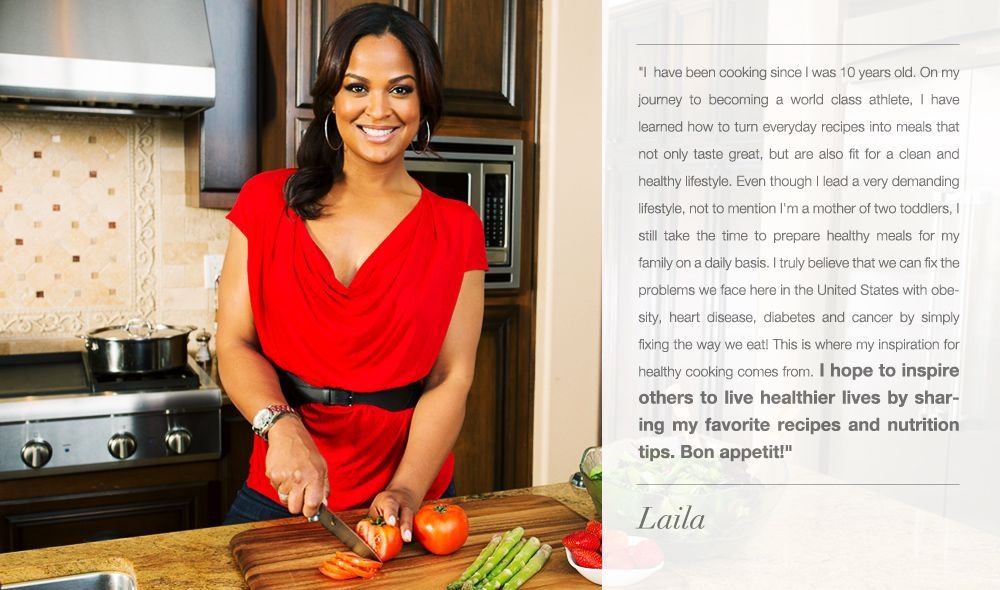 Laila's views on cooking, from her website
