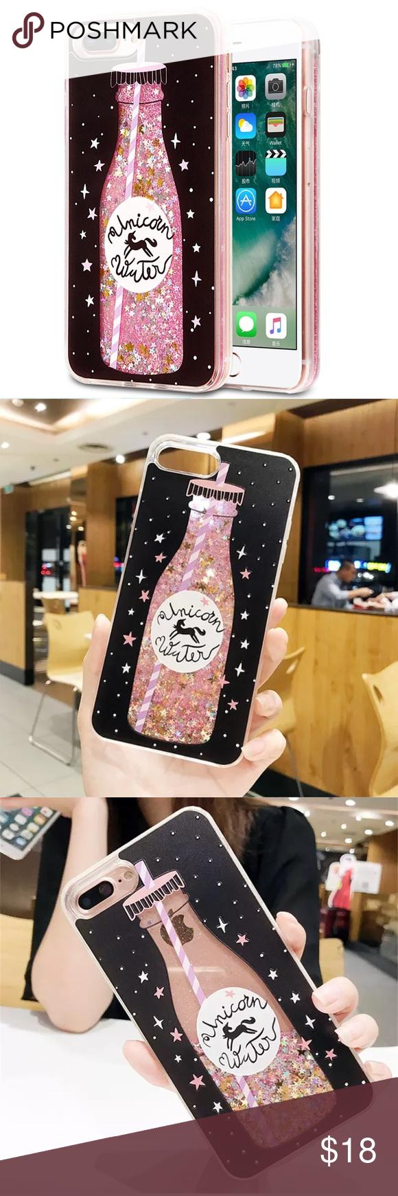 promo code 2f37f 01d6f Unicorn Water Glitter Quicksand iPhone 8 Plus Case Both cases fit ...