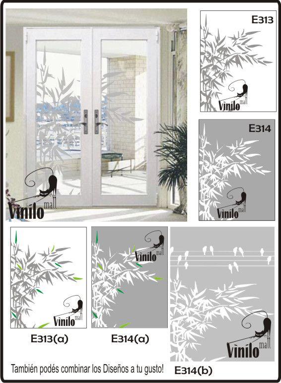 Vinilos decorativos esmerilados para vidrios 215 00 en - Vinilo decorativo cristal ...