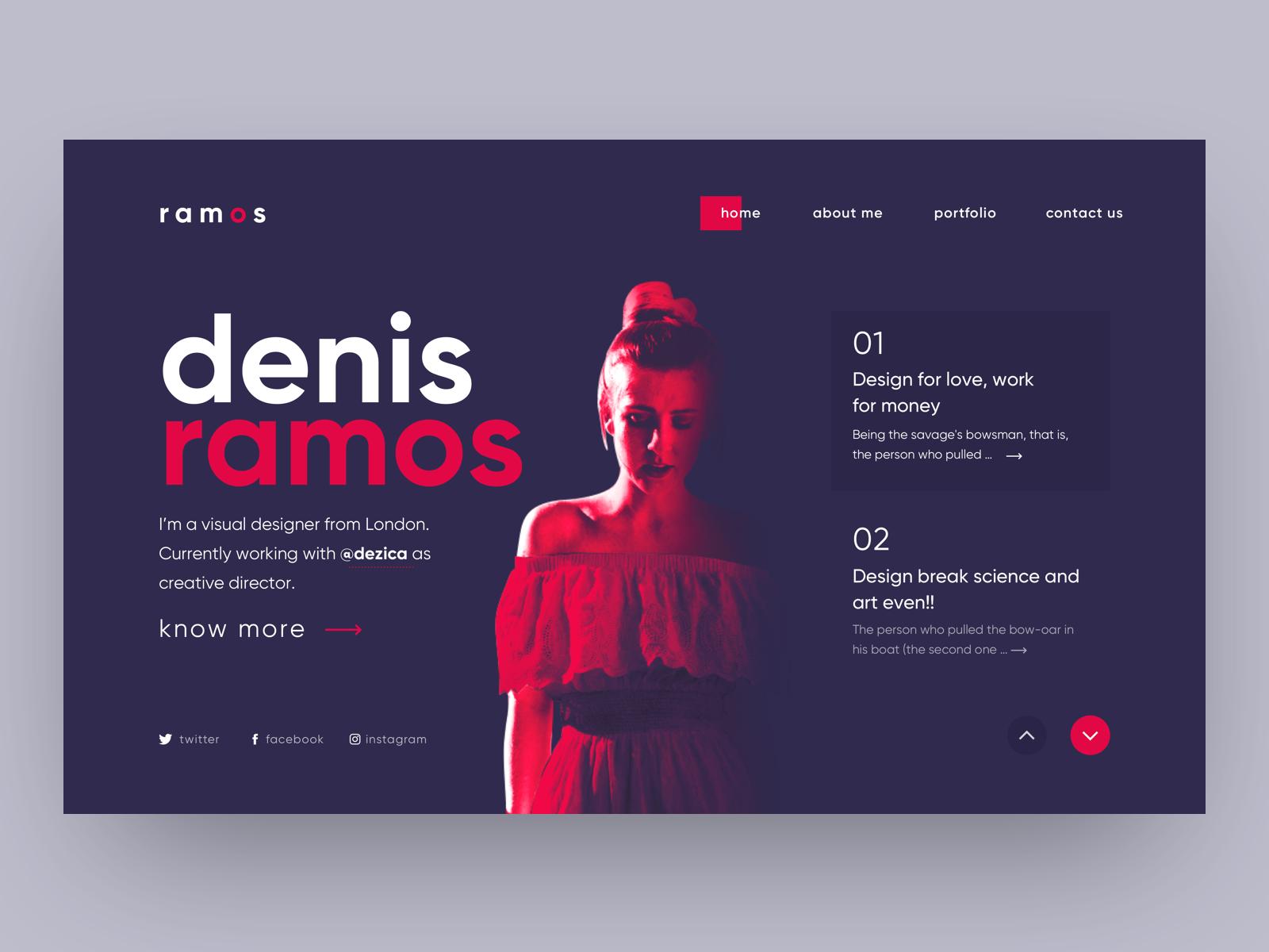 Single Page Portfolio Portfolio Web Design Web Design Black Web Design Trends