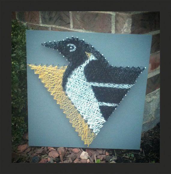pittsburgh penguins string art