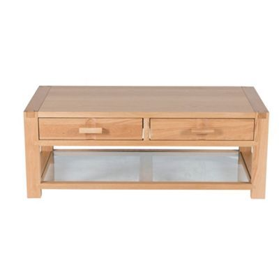 Willis & Gambier Oak Monterey coffee table with 2 drawers at