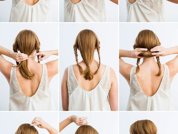 Comment faire une coiffure facile cheveux mi-longs? | Cheveux mi long, Coiffure facile, Cheveux