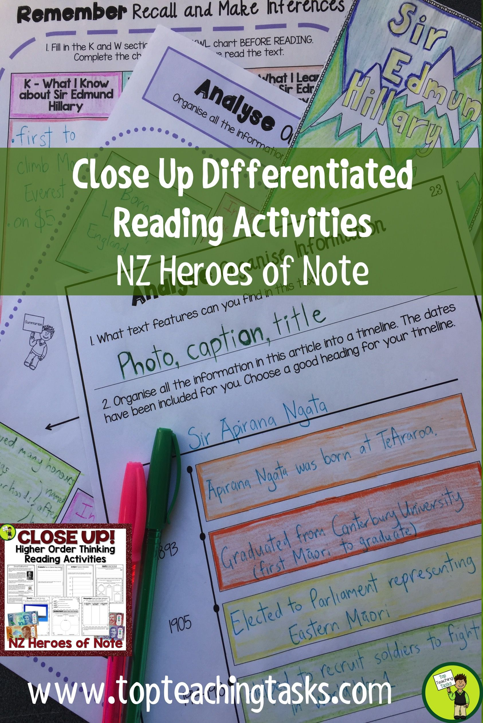 Famous New Zealanders Close Reading Prehension Passages And