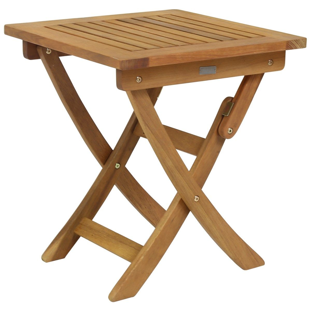 Small Garden Wooden Side Table Folding | Wooden Garden Furniture, Wooden Garden Table, Wooden Side Table