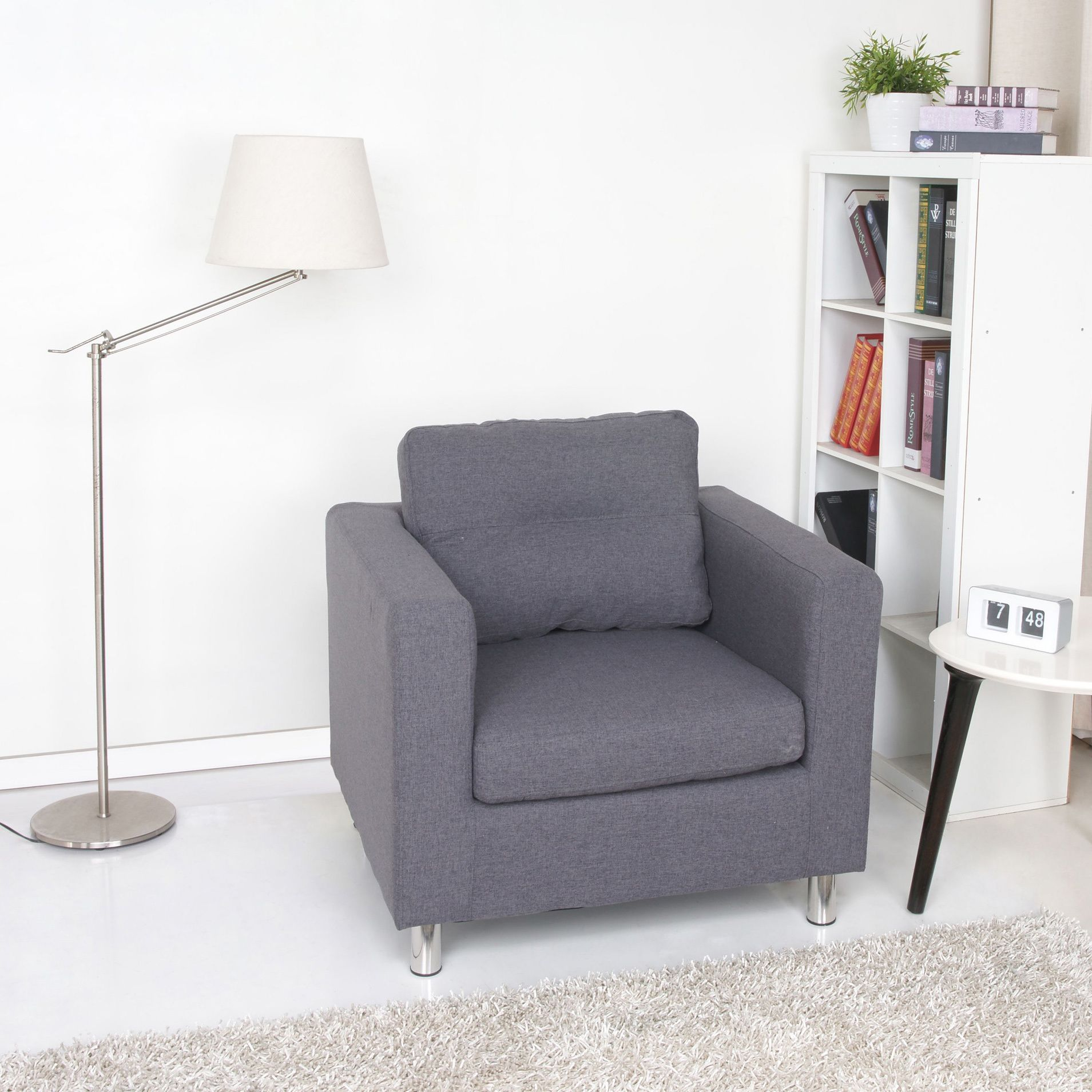 Detroit Dark Grey Armchair | Overstock.com Shopping - The Best Deals ...