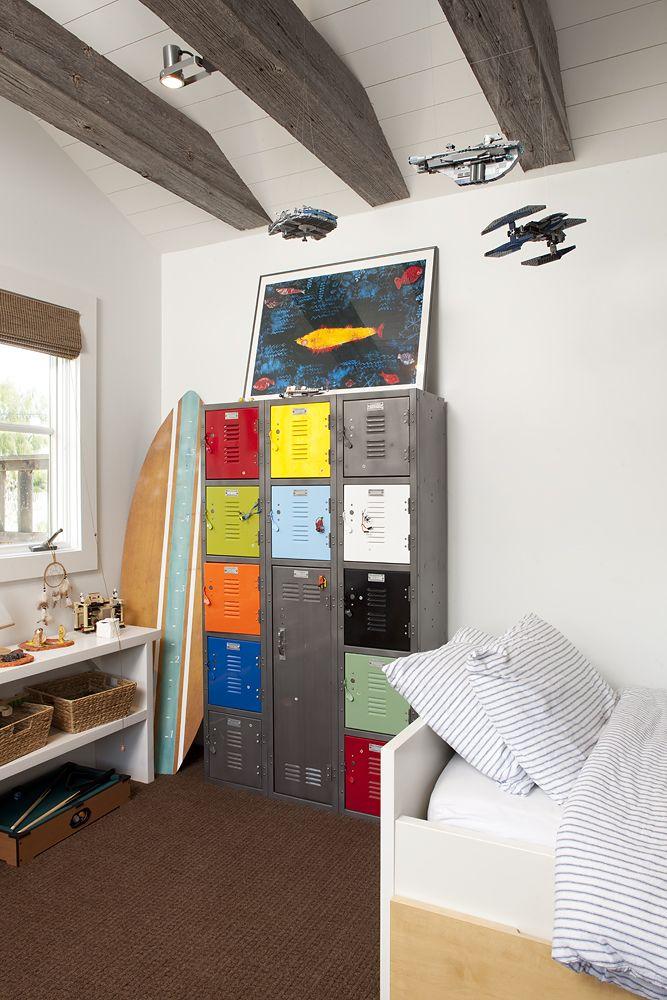 repurposed metal locker in boys bedroom Joziah Pinterest