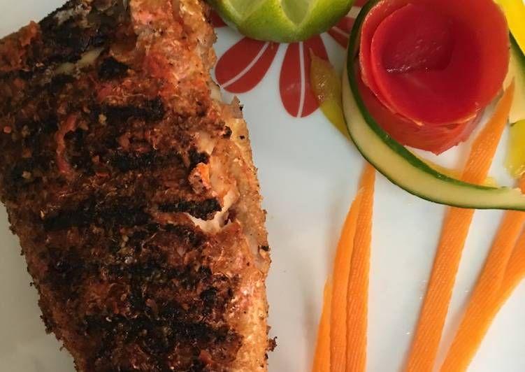 سمك مشوى بنخالة القمح الردة بالصور من Moon Recipe Food Meatloaf Health