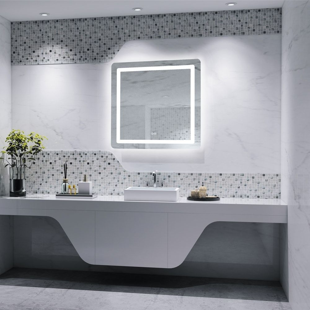 Frameless Wall Mounted Led Bathroom Mirror White The Effective Pictures We Offer You About Frameless Bathroom In 2020 Led Mirror Bathroom Bathroom Mirror Led Mirror [ 1000 x 1000 Pixel ]