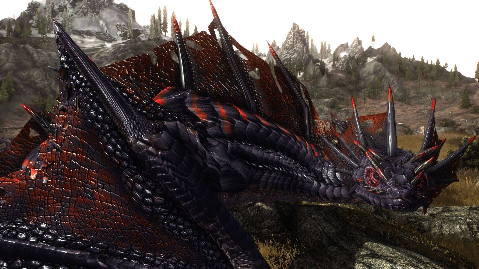 Zerofrost Mythical Armors and Dragon at Skyrim Special