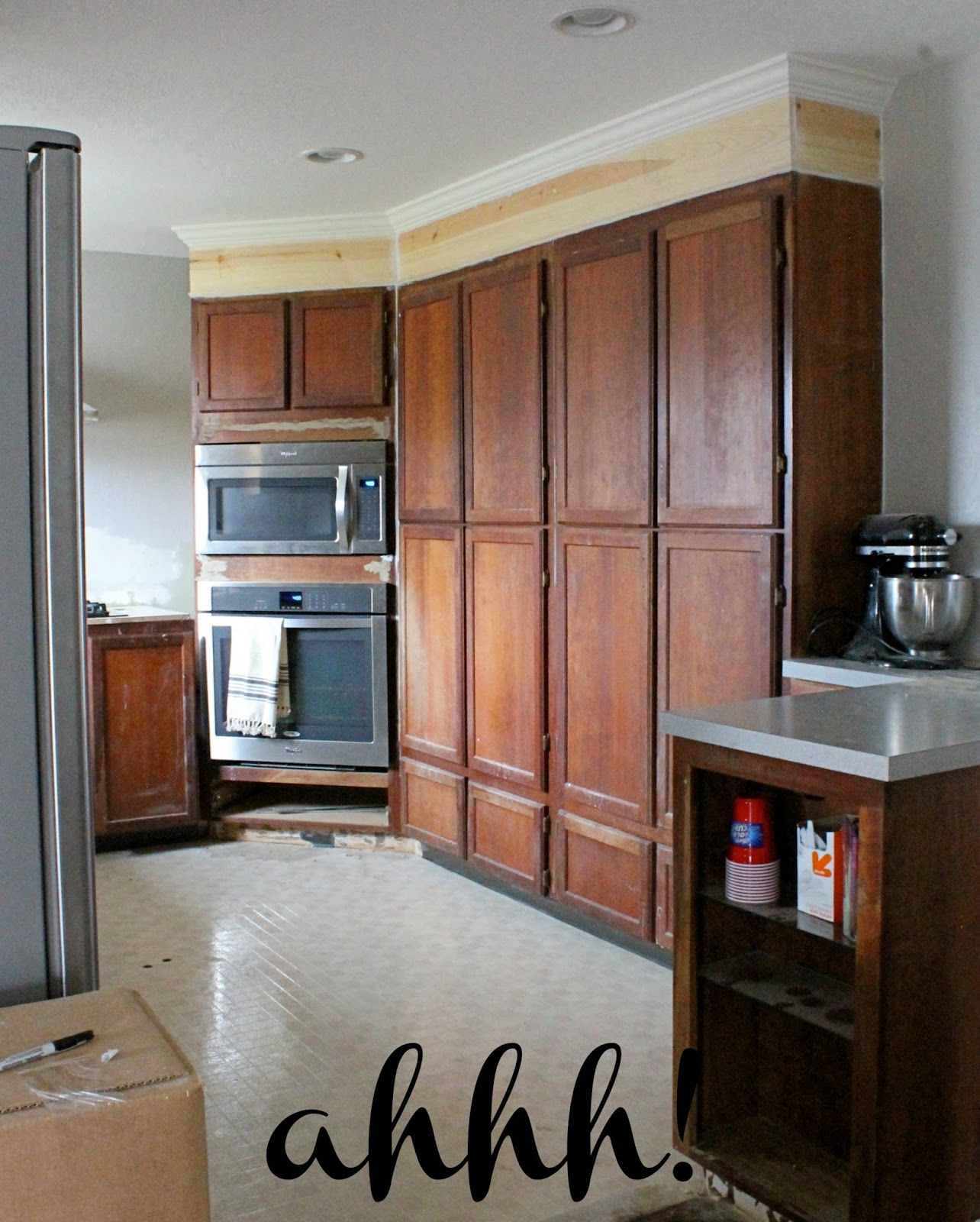 Wonderfully Made Extending Kitchen Cabinets To The Ceiling