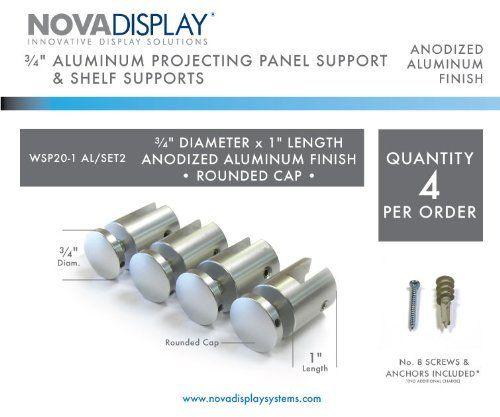 3 4 Dia X 1 L Panel Screw Cap Set For Panels Up To 4 6 5mm 5 32 1 4 Thick Round Cap By Nova Display Inc 22 80 Aluminum Shelves Wayfinding Signage