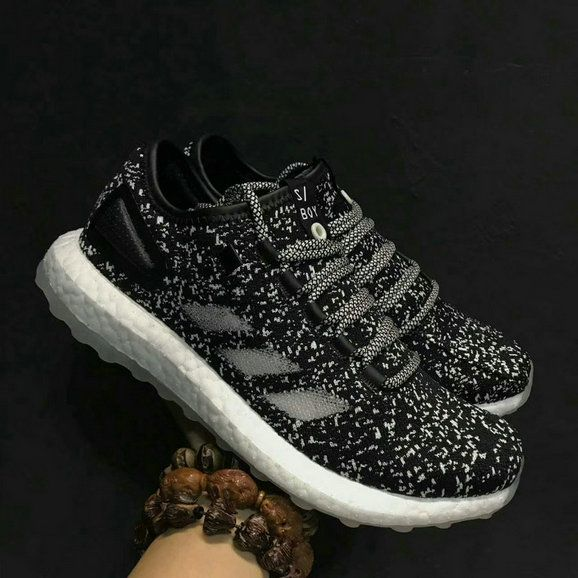 77be29511 New Arrival Men Adidas Pure Boost Black White