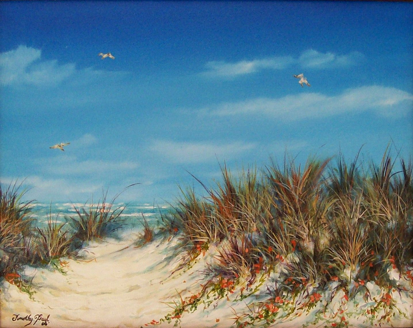Dunes On South Padre Island Tx Oil On Canvas 14 X 11