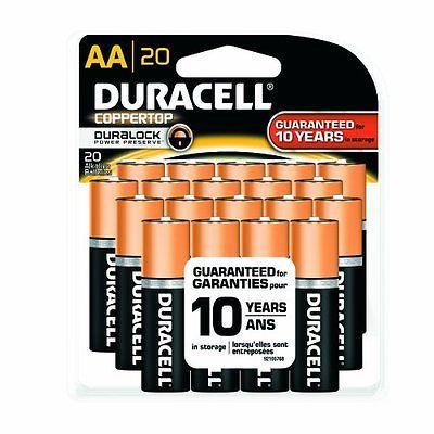 Duracell Aa 20 X Pack Coppertop Alkaline Manganese Dioxide Battery 1 5v Power Duracell Household Batteries Battery Disposal