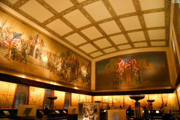 Murals In Liberty Memorial Hall S National World War I Museum Kansas City Mo Kansas City Museum Mural