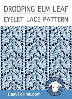 Easy Eyelet Lace Knitting Pattern #laceknitting