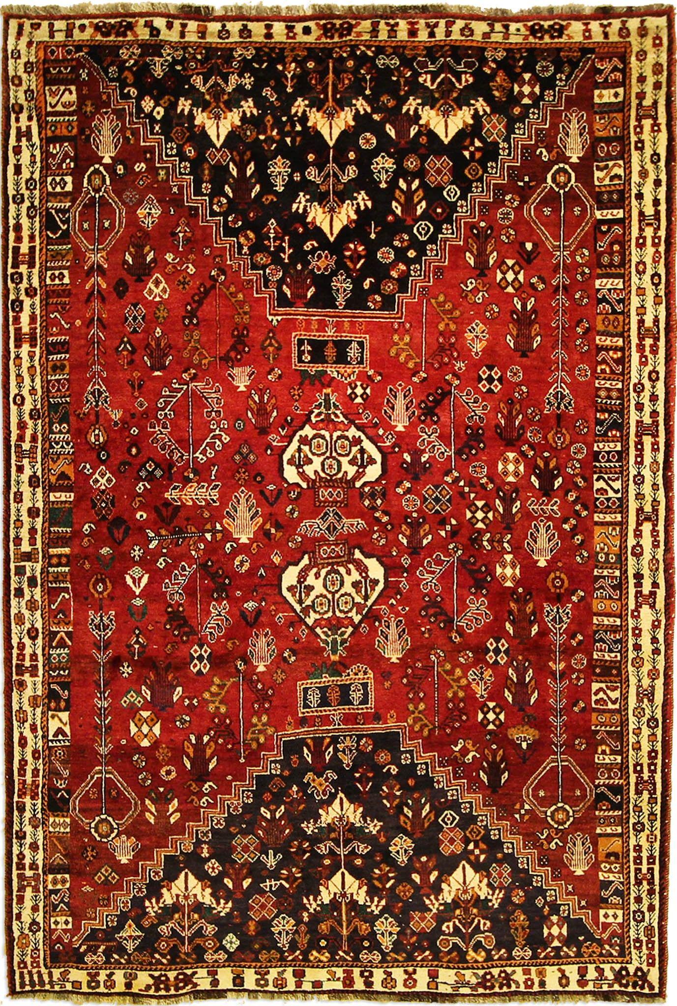 Oriental Qashqai Rug 257 X 172 Cm 8 43 X 5 64 Ft Persian Tribal Carpet Rugs On Carpet Tribal Rug