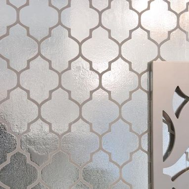 Reflective Wallpaper Moroccan Flock Foil Champagne