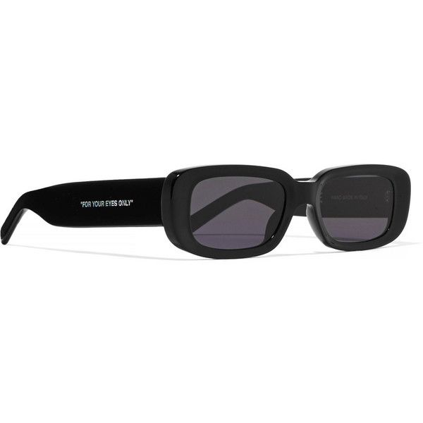8b0a7d7b7ce Off-White Printed square-frame acetate sunglasses ( 420) ❤ liked on  Polyvore featuring accessories