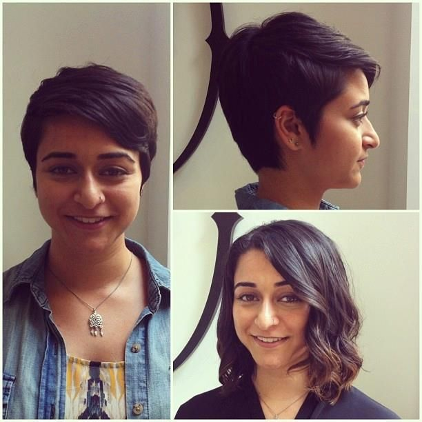 Short Hair Before And After Pixie Cut My Work Pinterest
