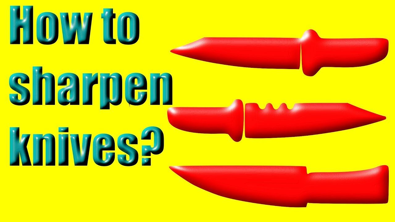 How to sharpen dull knives without tools dull knives