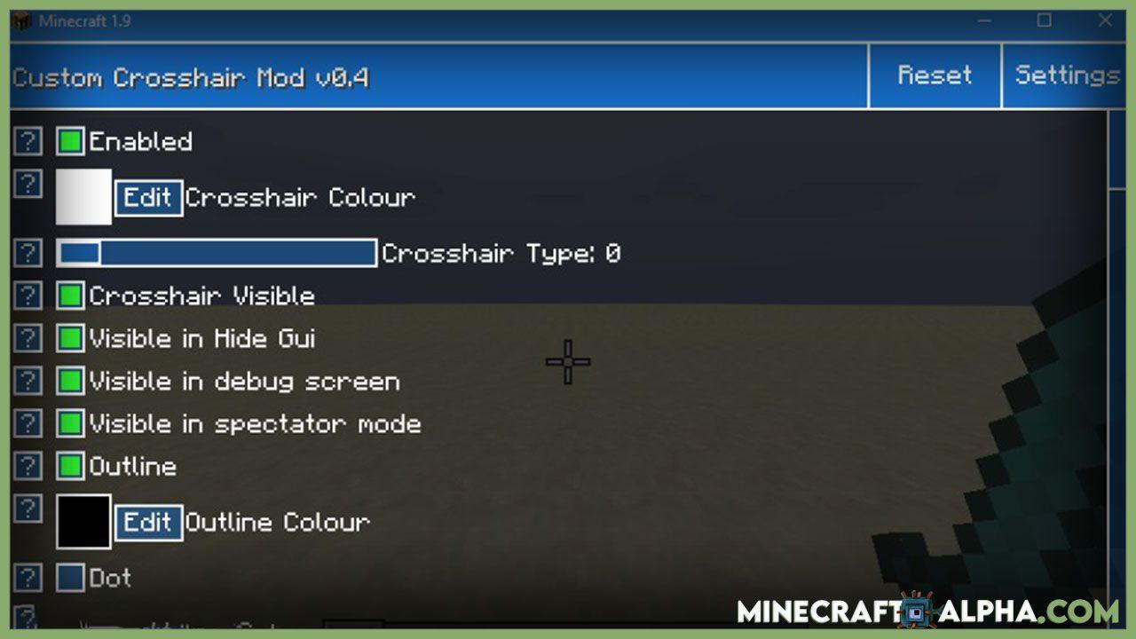 Minecraft Custom 2bcrosshair Mod 2b2 In 2021 Minecraft Custom Mod
