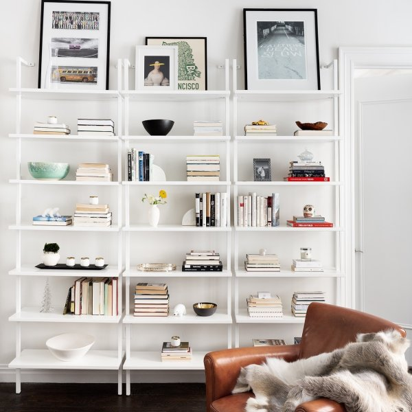 stairway white 96 wall mounted bookcase wall mounted on wall mount bookshelf id=95688