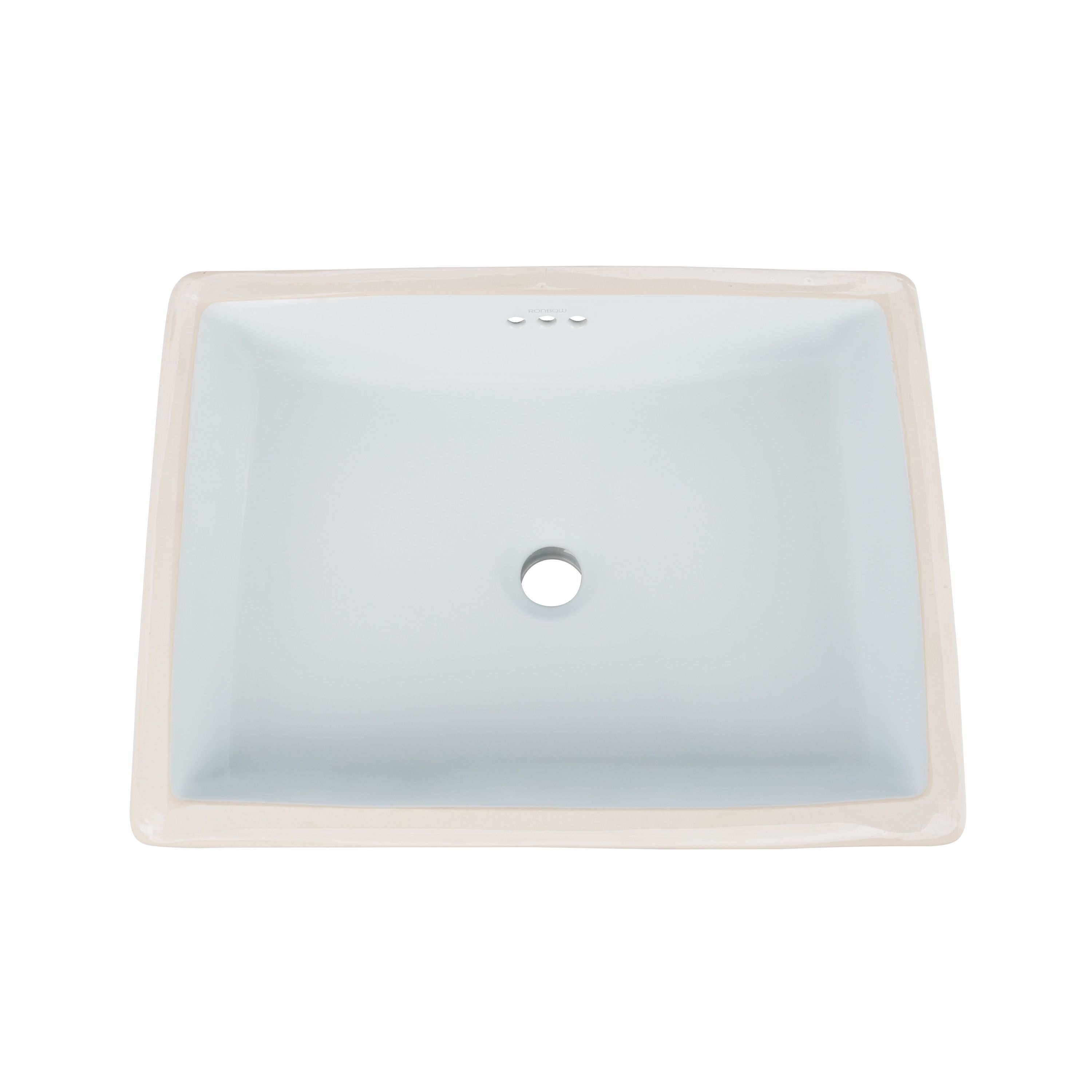 Ronbow Plane 20 Inch Ceramic Undermount Bathroom Vessel Sink With Overflow  By Ronbow