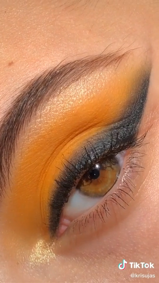 Photo of eyeshadow tutorial  yellow and black eyeshadow tutorial #eye #makeup #eyeshadow #trendy #tiktok
