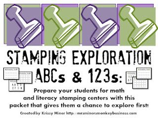 Classroom Freebies: Stamping Freebie to Get Kinders Ready to Stamp to Learn