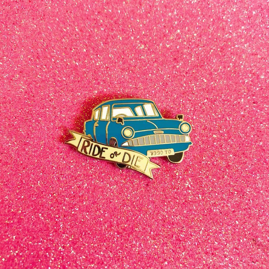 Ride Or Die Enamel Pin Enamel Pins Ride Or Die Sunset Road
