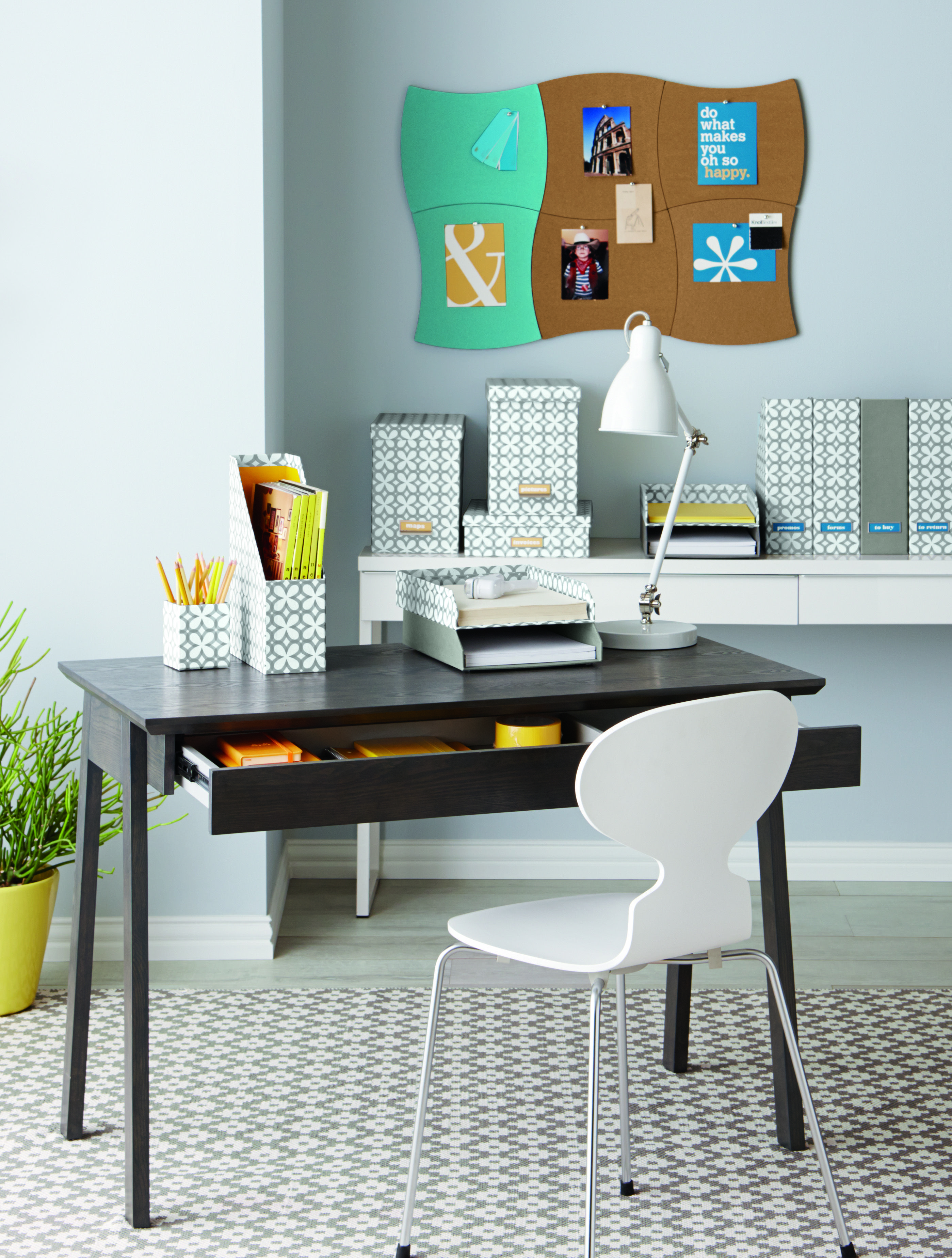 Our Caché Desk Works Beautifully In Tight Quarters Its Sleek