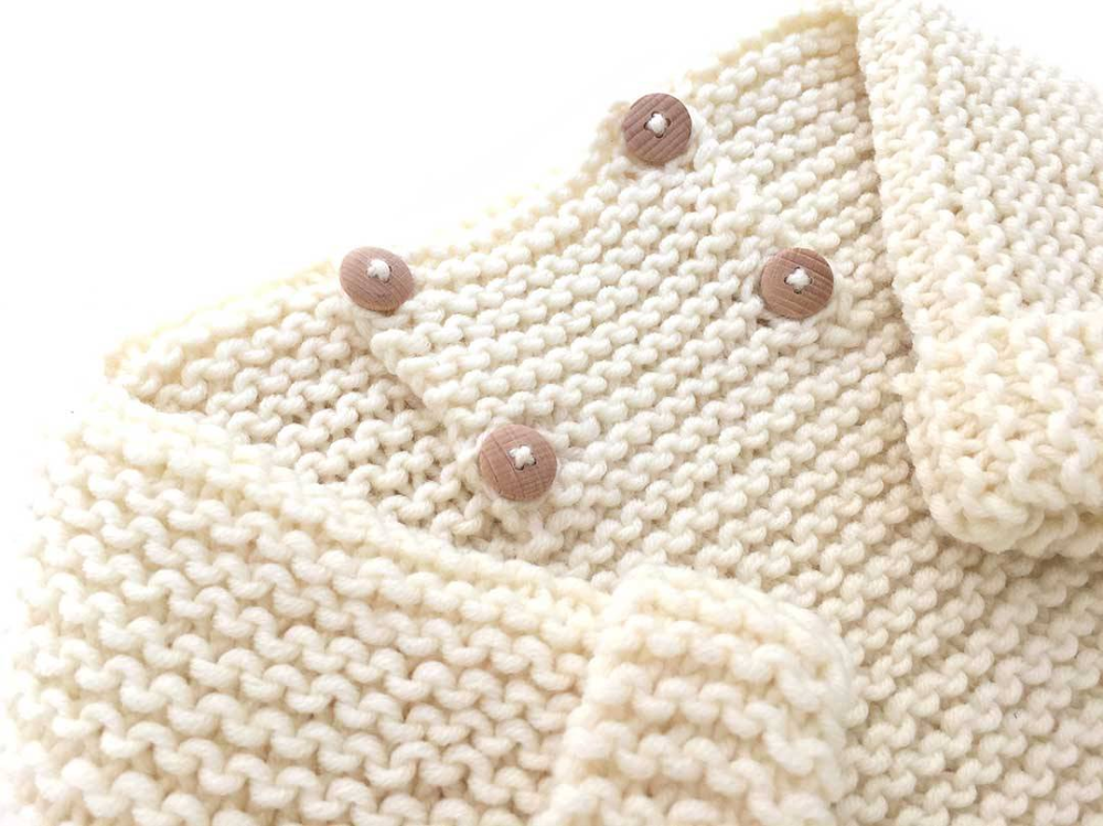 Photo of Garter Stitch Baby Sweater – EASY Pattern & Tutorial