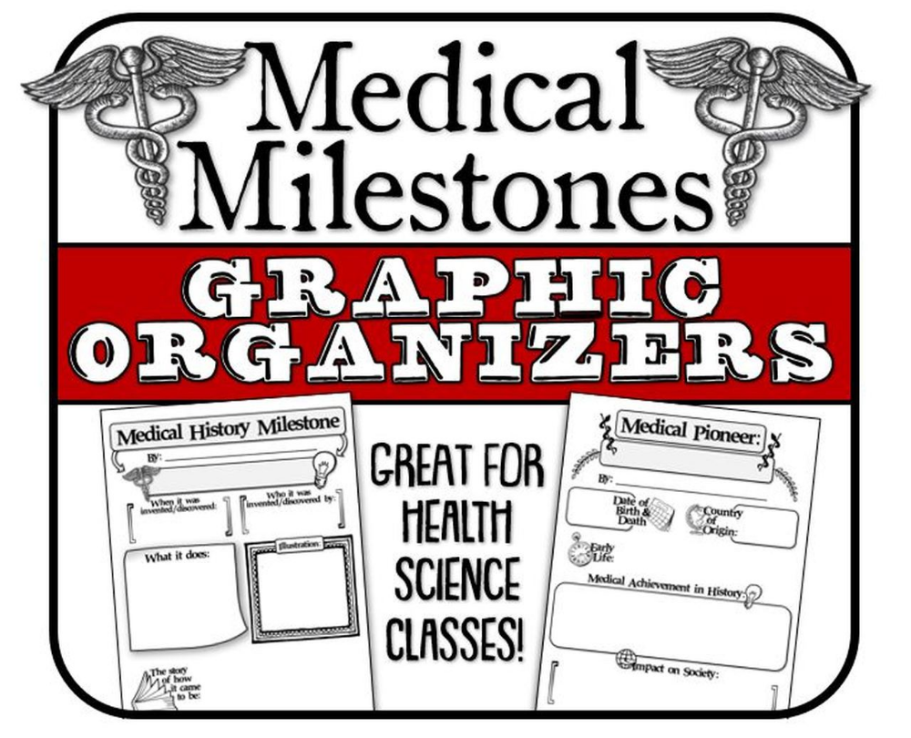 Medical Milestone And Pioneer Graphic Organizer Great For Health Science Amped Up Learning Graphic Organizers Health Science Medical History