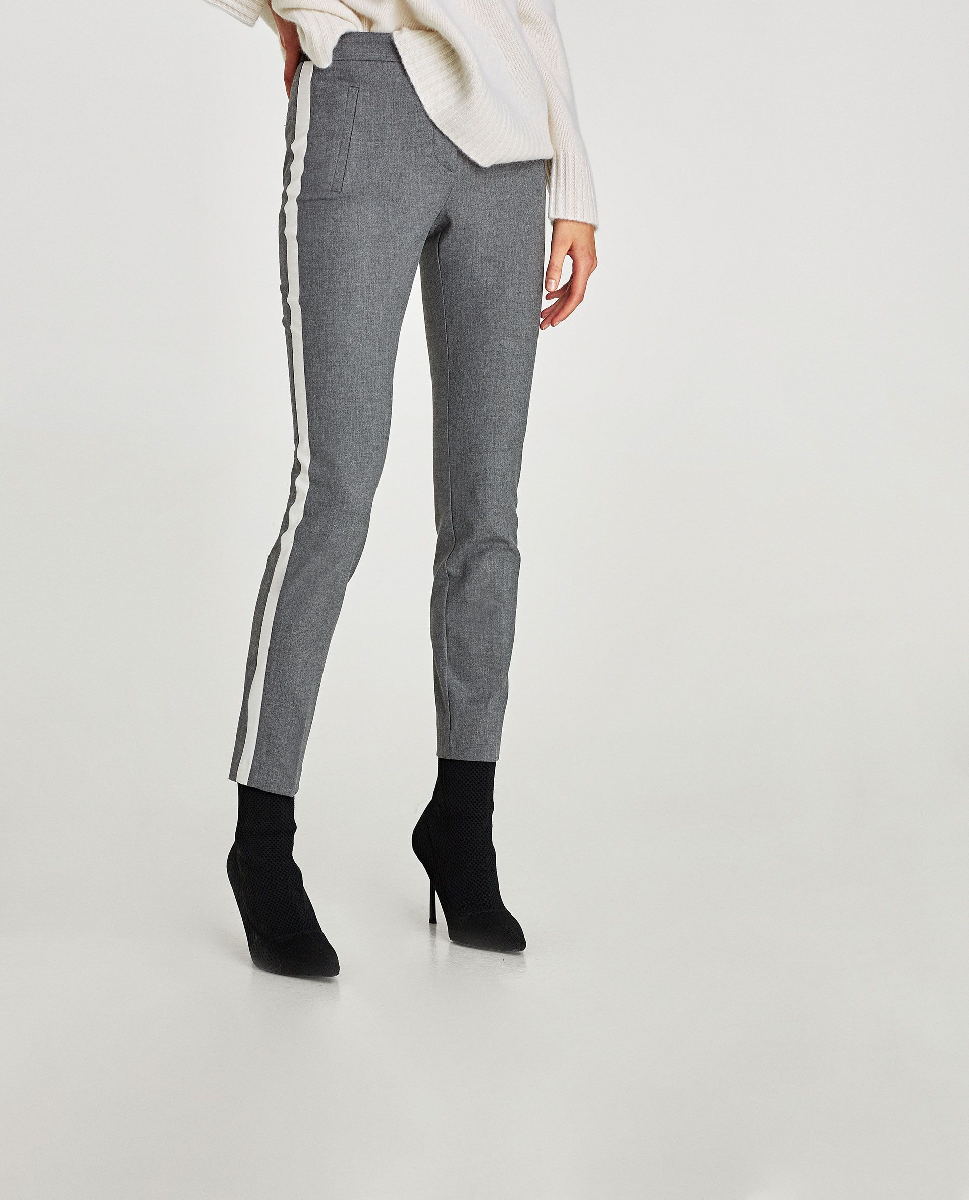 fcb0a913 Image 2 of TROUSERS WITH SIDE STRIPE from Zara | Shopping guide ...