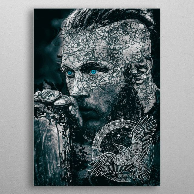 Vikings Ragnar the king | Displate thumbnail