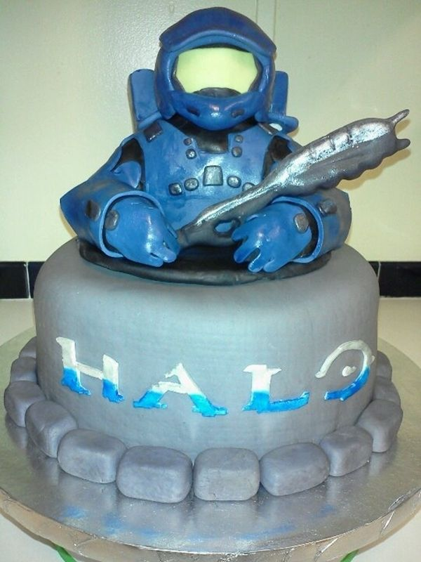 video game Birthday Cakes Halo Video Game gamers Pinterest