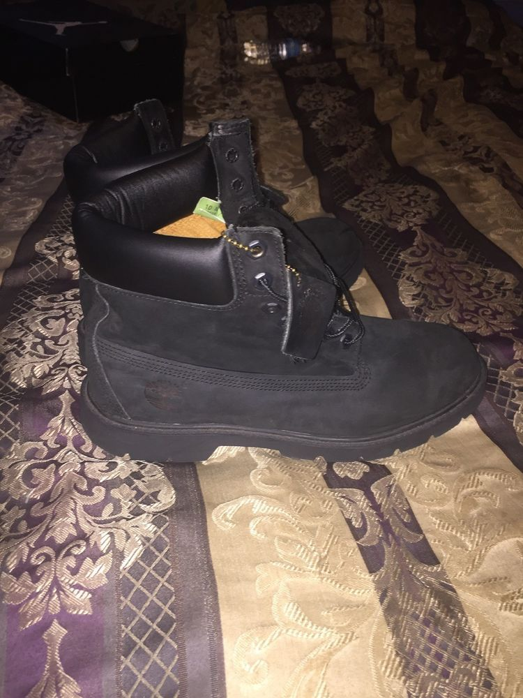 Mens Black Timberland Boots Size 10 w
