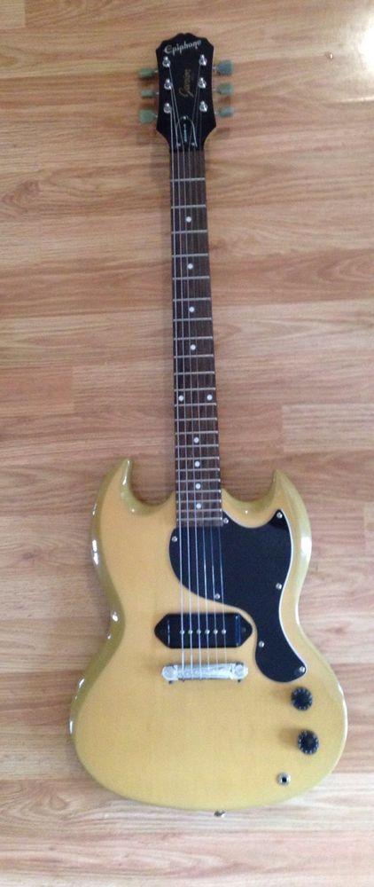Epiphone SG Junior Electric Guitar circa 1997 Lemon Haze #Epiphone