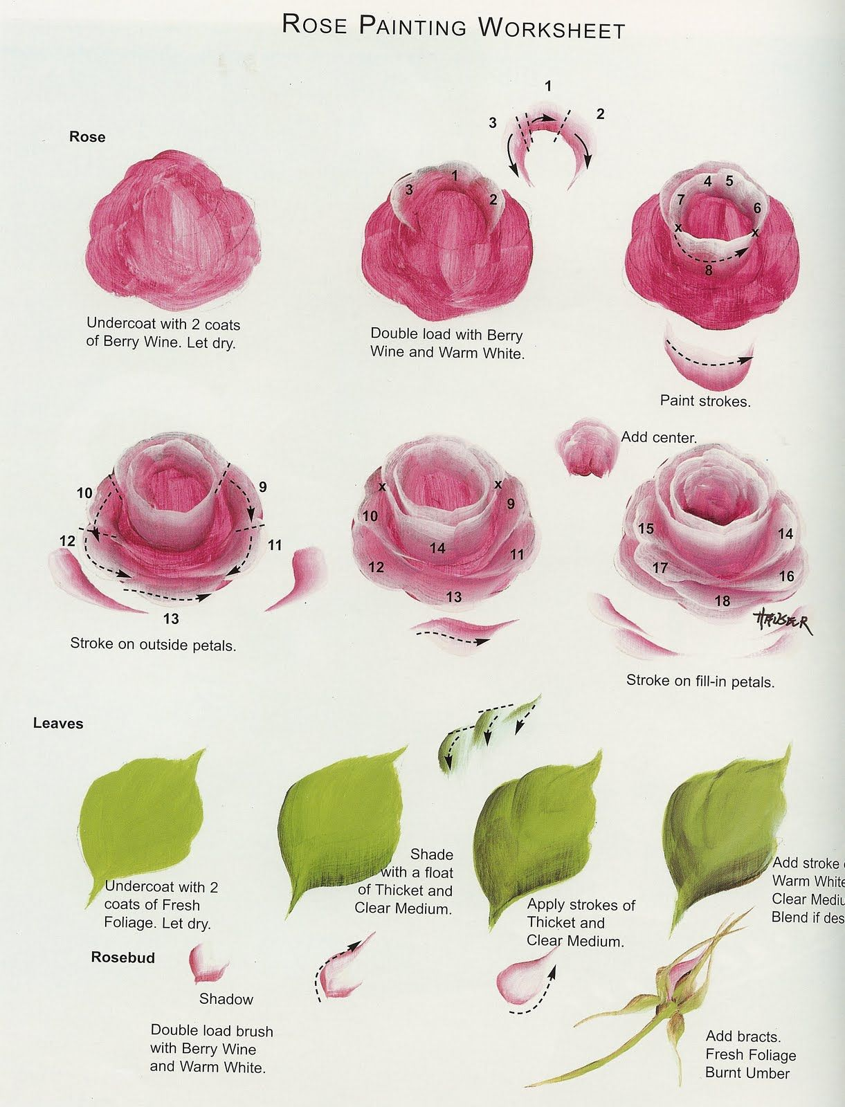 Kzie S Decorative Crafts How To Paint A Rose 2