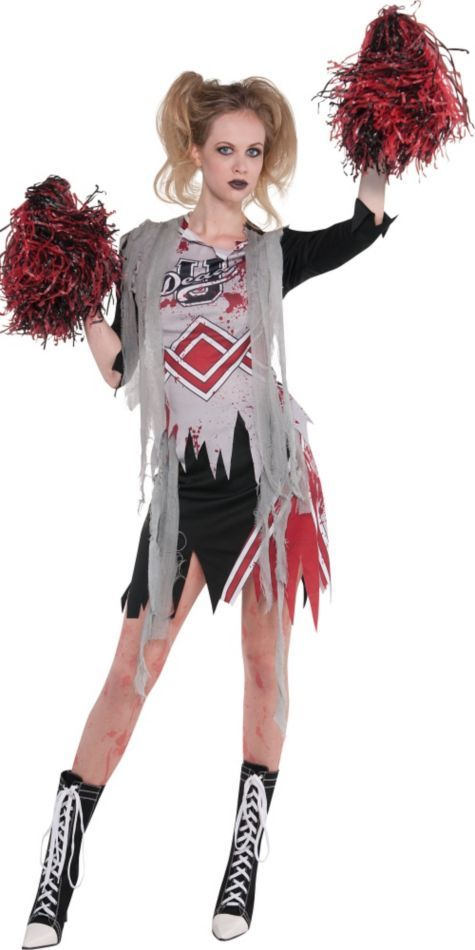 Adult Zombie Cheerleader Costume , Party City