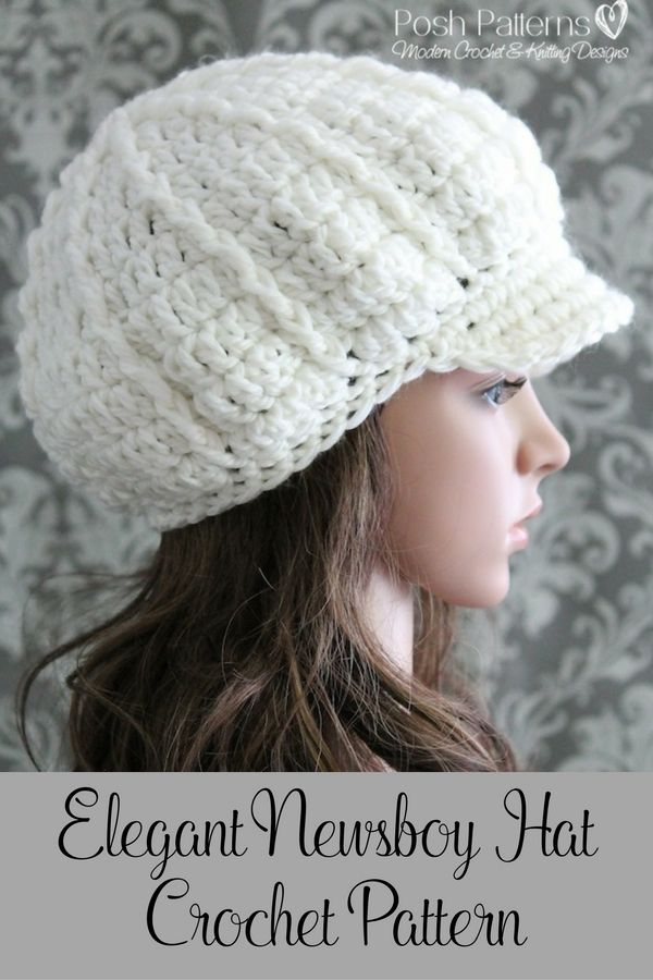 Crochet Pattern Crochet Slouchy Newsboy Hat Pattern Apple Cap