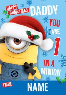 cba800e9b49ff Despicable Me 2 - Daddy 1 in a Minion Christmas Card
