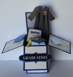Dsc01919 Graduation Box Pop Up Box Cards Box Cards Tutorial