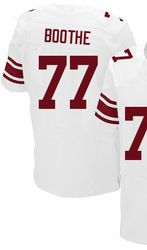 0507f9913 $78.00--Kevin Boothe White Elite Jersey - Nike Stitched New York Giants #77