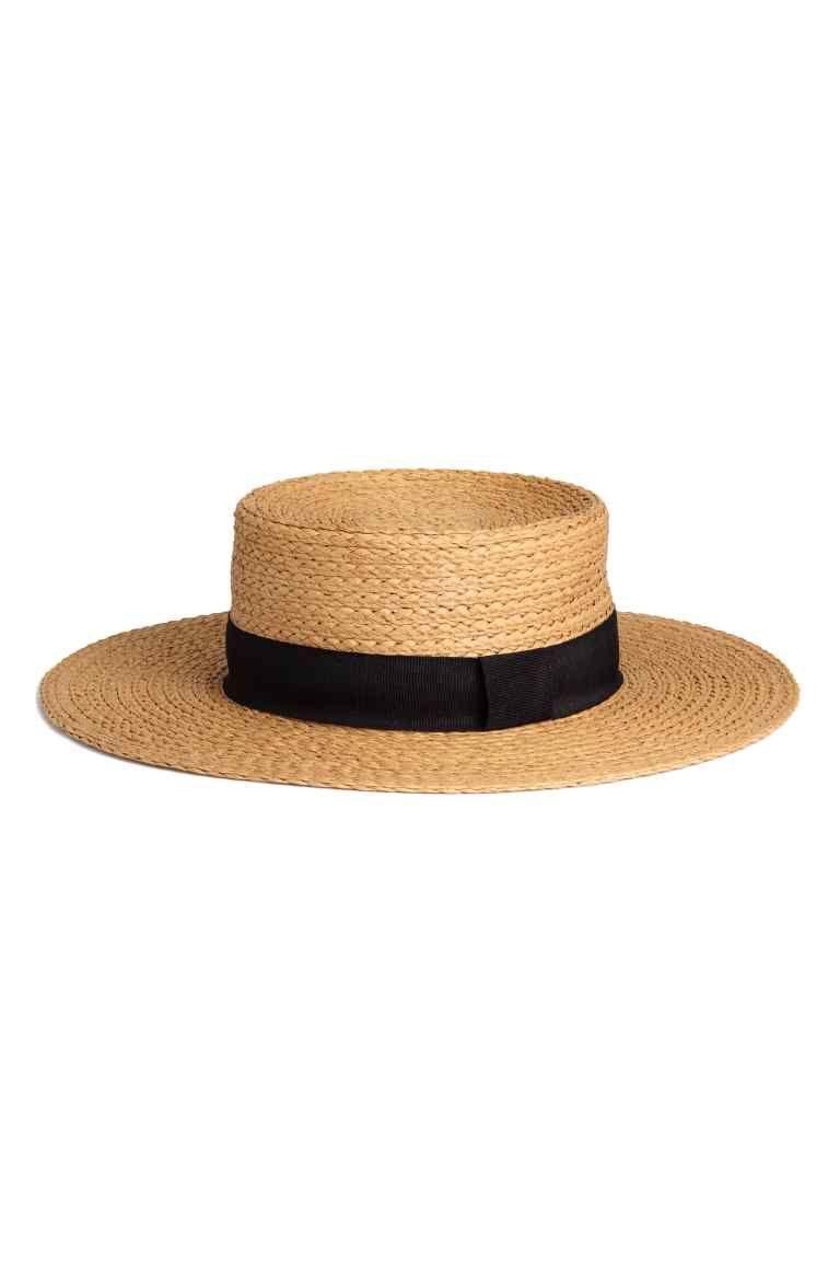 Straw Hat Natural Ladies H M Ca Straw Hat Fancy Hats Beautiful Hats