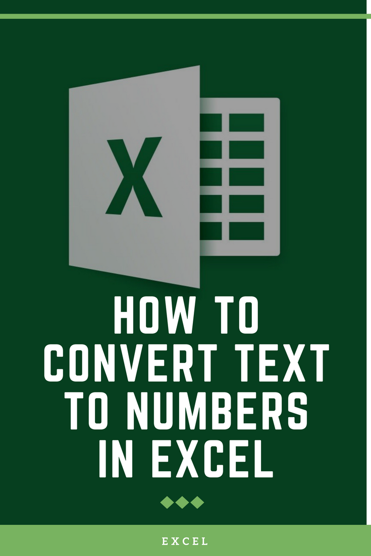 Convert numbers stored as text to numbers Excel