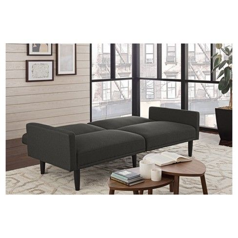 Linen Futon With Arms Gray Room Essentials Target Twin Sleeper Sofa