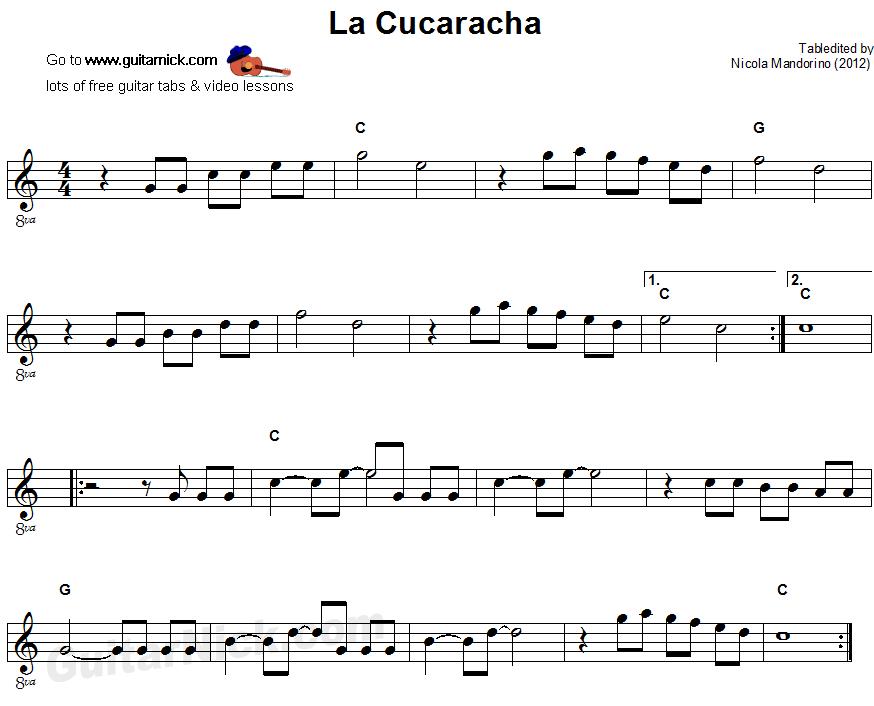 la cucaracha chords - Google Search   elem. music stuff   Pinterest ...